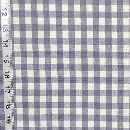FRENCH BLUE SMALL CHECKED FABRIC