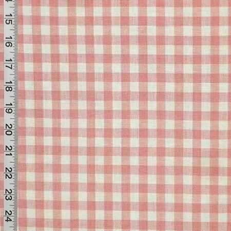 Rose Pink Gingham Fabric