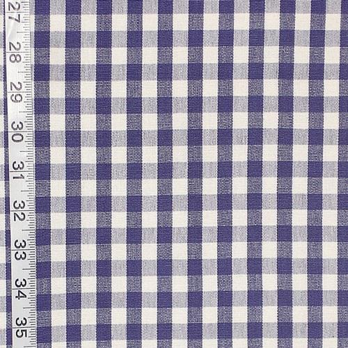3/8 SMALL GINGHAM CHECK FABRIC- ROYAL BLUE