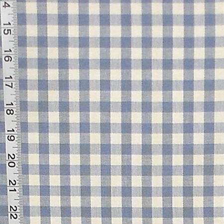 FRENCH BLUE GINGHAM FABRIC SKY