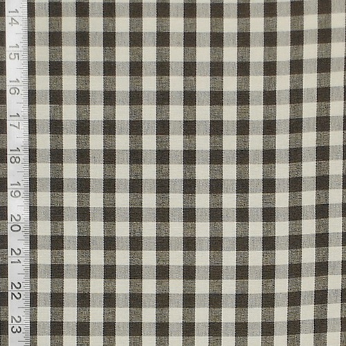 CHARCOAL GINGHAM CHECK FABRIC