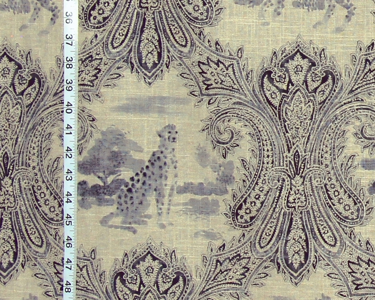 CHEETAH PAISLEY TOILE FABRIC