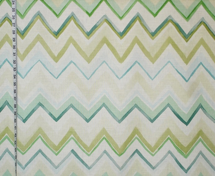 Green chevron fabric stripe watercolor aqua sea glass from Brick ...
