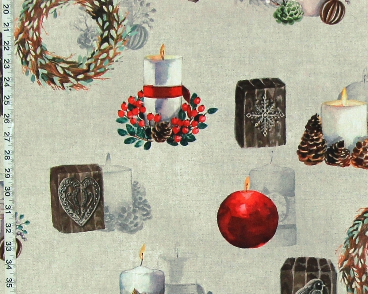 HOLIDAY CANDLE FABRIC
