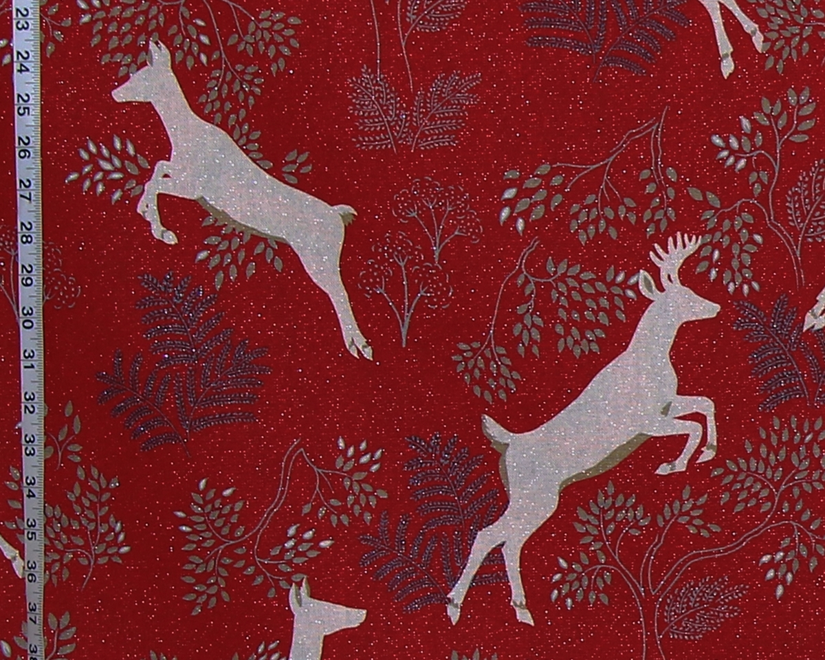 RED DEER HOLIDAY FABRIC
