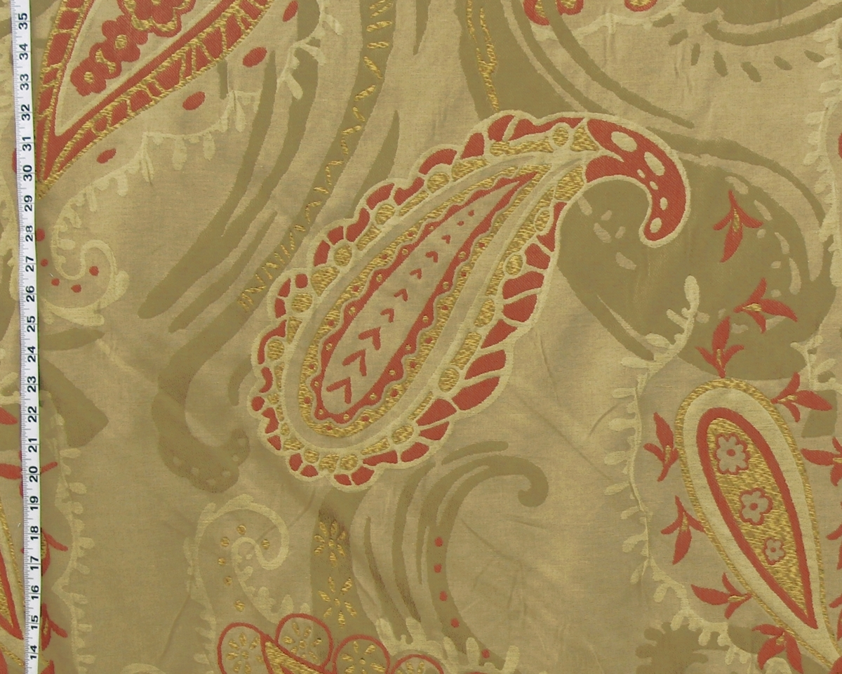 CLARENCE HOUSE MENANDRE PAISLEY FABRIC