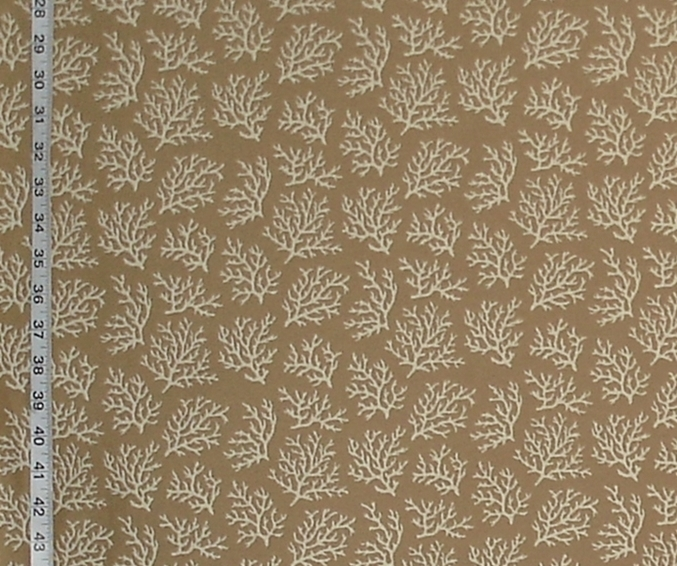 MINI TAN CORAL UPHOLSTERY FABRIC
