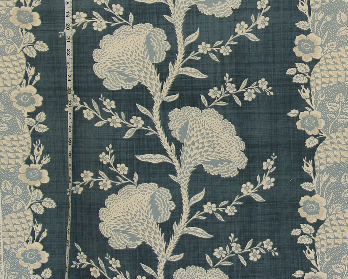 COLONIAL BLUE COXCOMB FABRIC