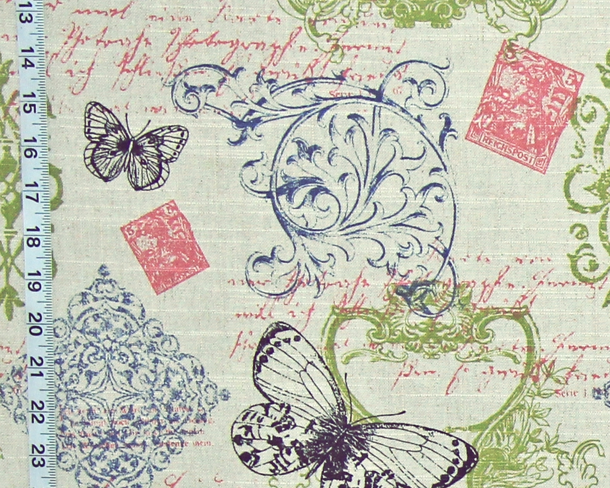 ARCHITECTURAL BUTTERFLY TOILE FABRIC
