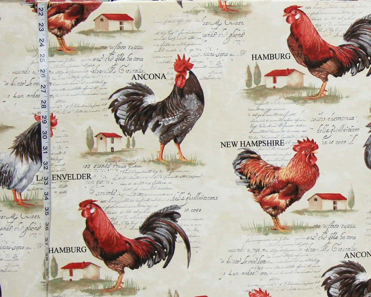 EUROPEAN ROOSTER FABRIC