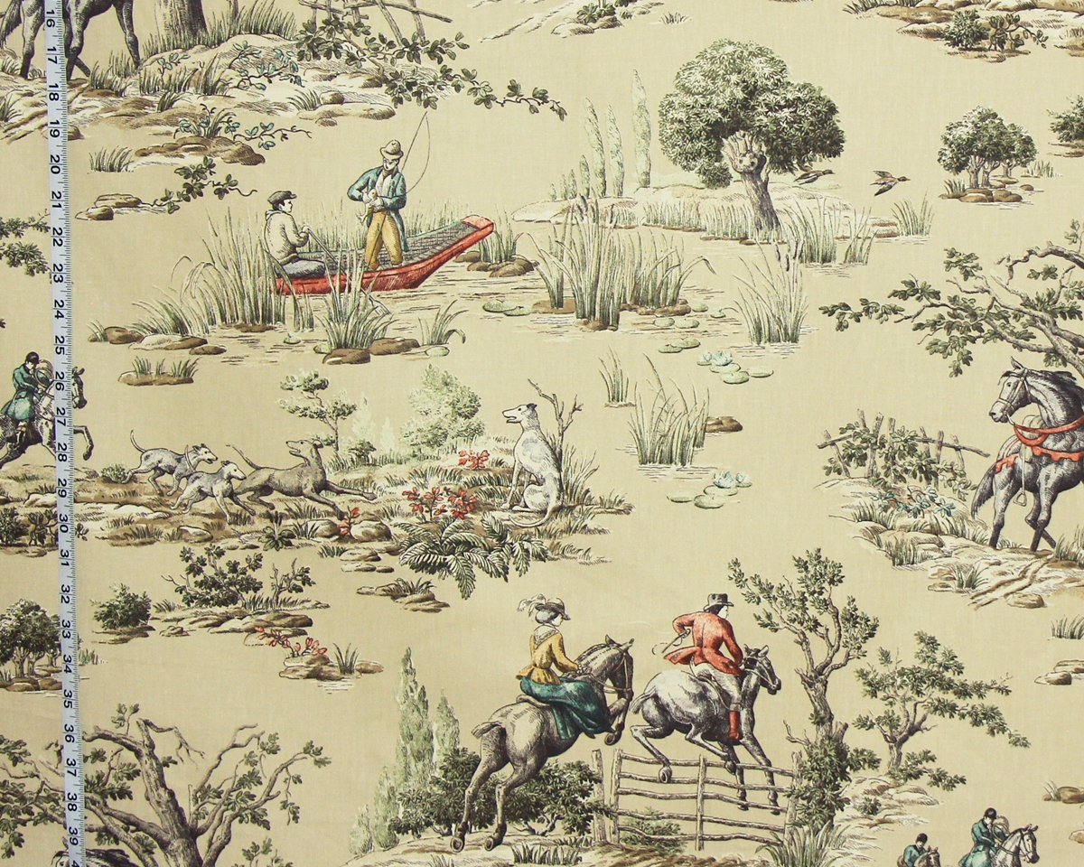 HORSE RIDING FISHING TOILE FABRIC