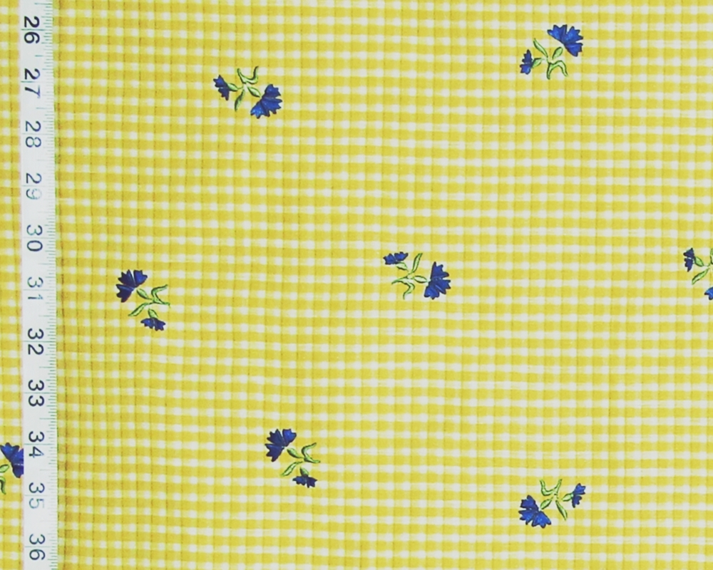 CLARENCE HOUSE YELLOW CHECK FABRIC