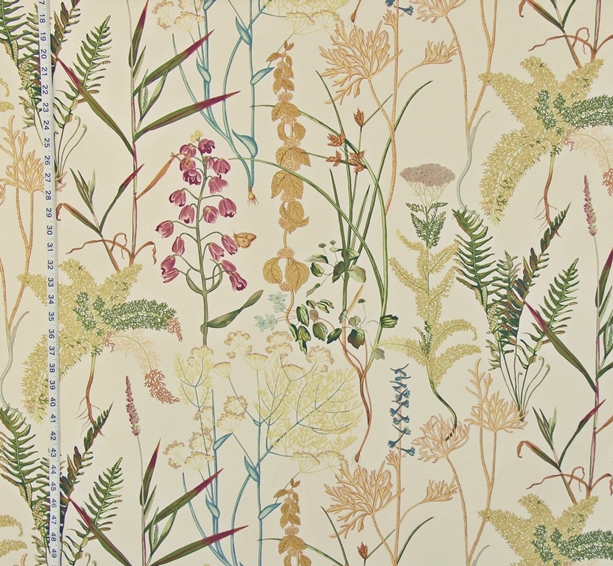 PURPLE FERN FRITILLARIA FABRIC