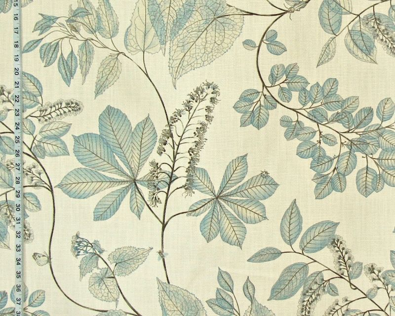 BLUE FLORAL NATURE FABRIC