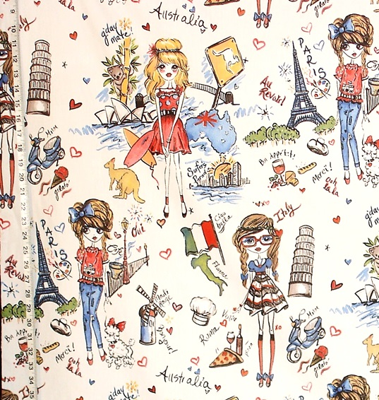 GIRLY TRAVEL FABRIC