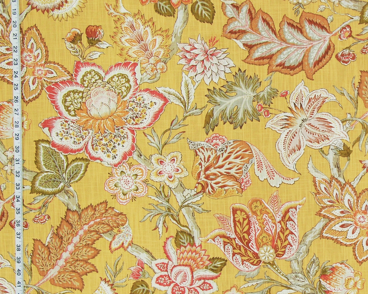 YELLOW GOLD INDIENNE FABRIC