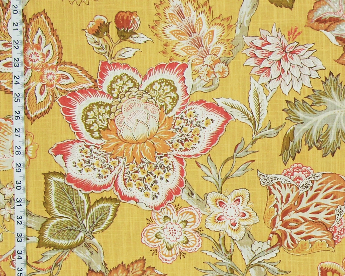 YELLOW INDIENNE FABRIC