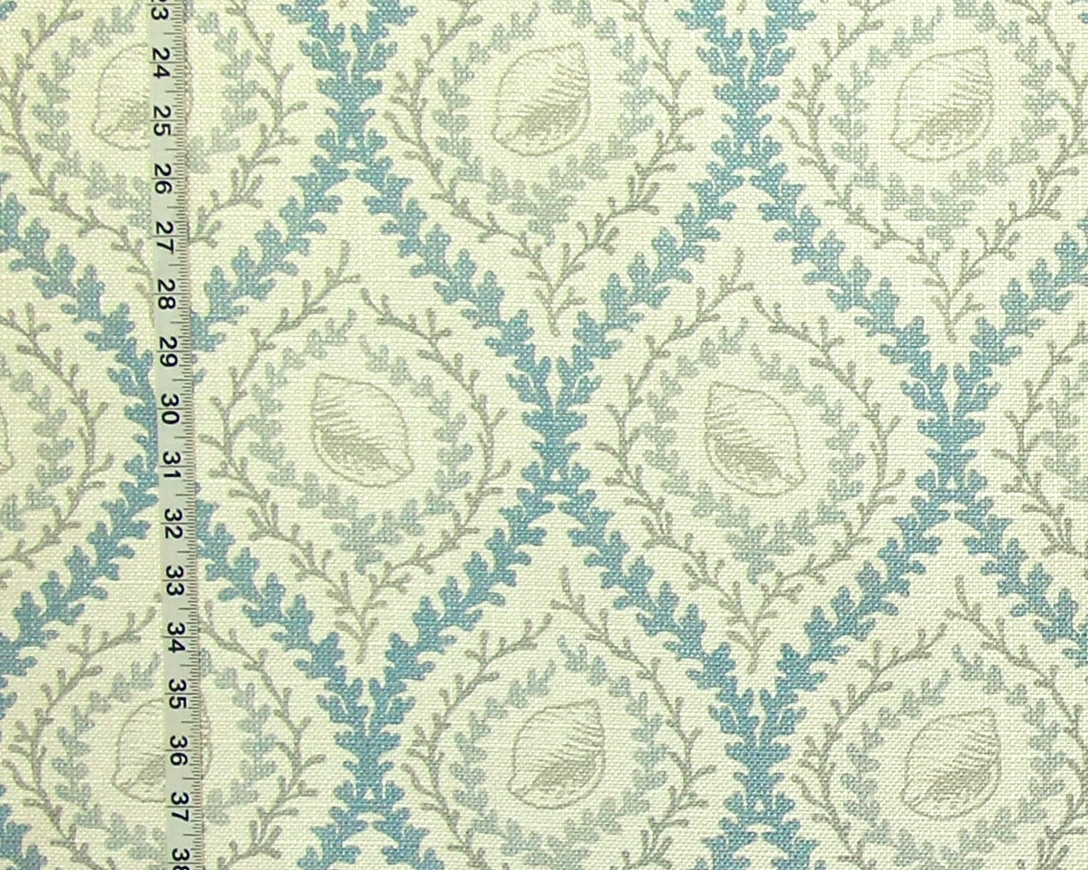 GREY SEASHELL TRELLIS FABRIC