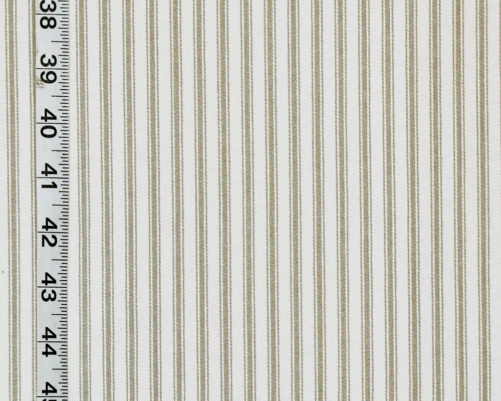 Grey Ticking Stripe Fabric Taupe Beige Neutral