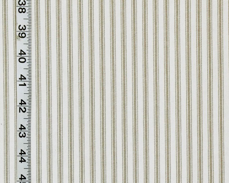 GREY TICKING STRIPED FABRIC