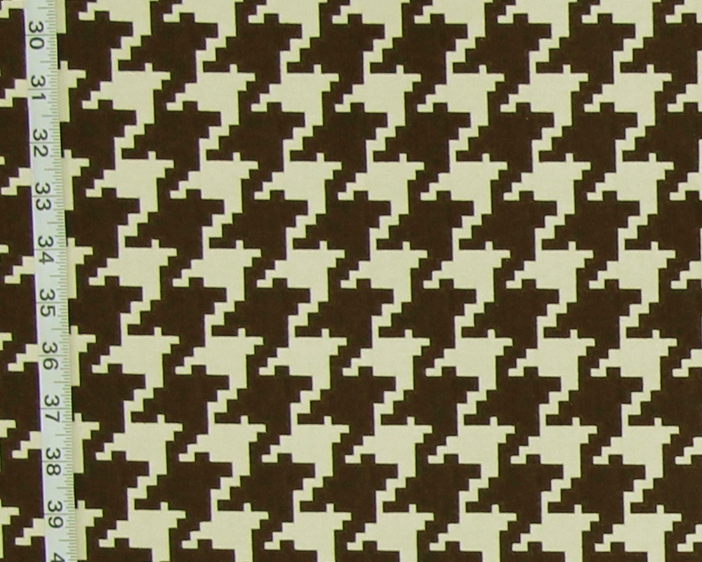 Large Brown Houndstooth Fabric Reversible Upholstery From Brick