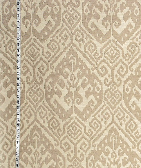 BROWN BEIGE IKAT FABRIC