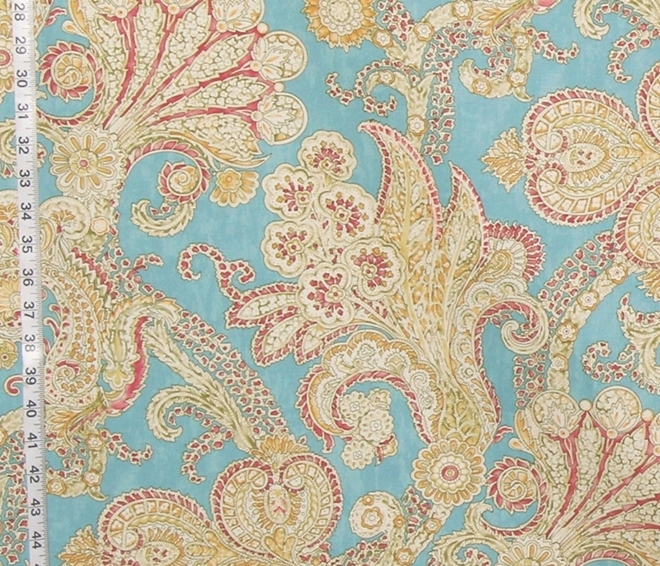 BLUE INDIENNE PAISLEY MOSAIC FABRIC