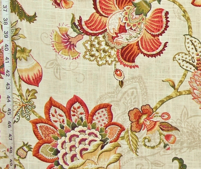 ORANGE INDIENNE FABRIC