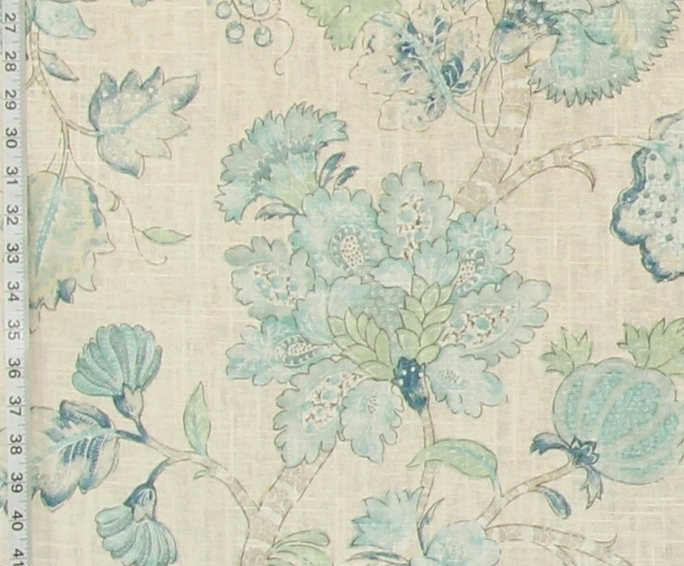 PASTEL BLUE INDIENNE FABRIC