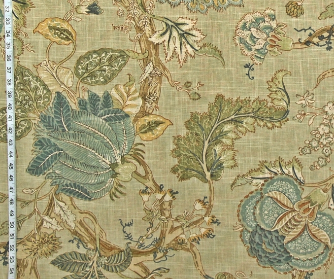 INDIENNE FABRIC VINTAGE BLUE TAN