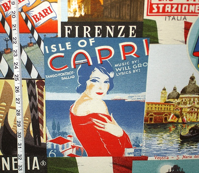 VINTAGE ITALIAN TRAVEL POSTERS- THE CAPRI GIRL