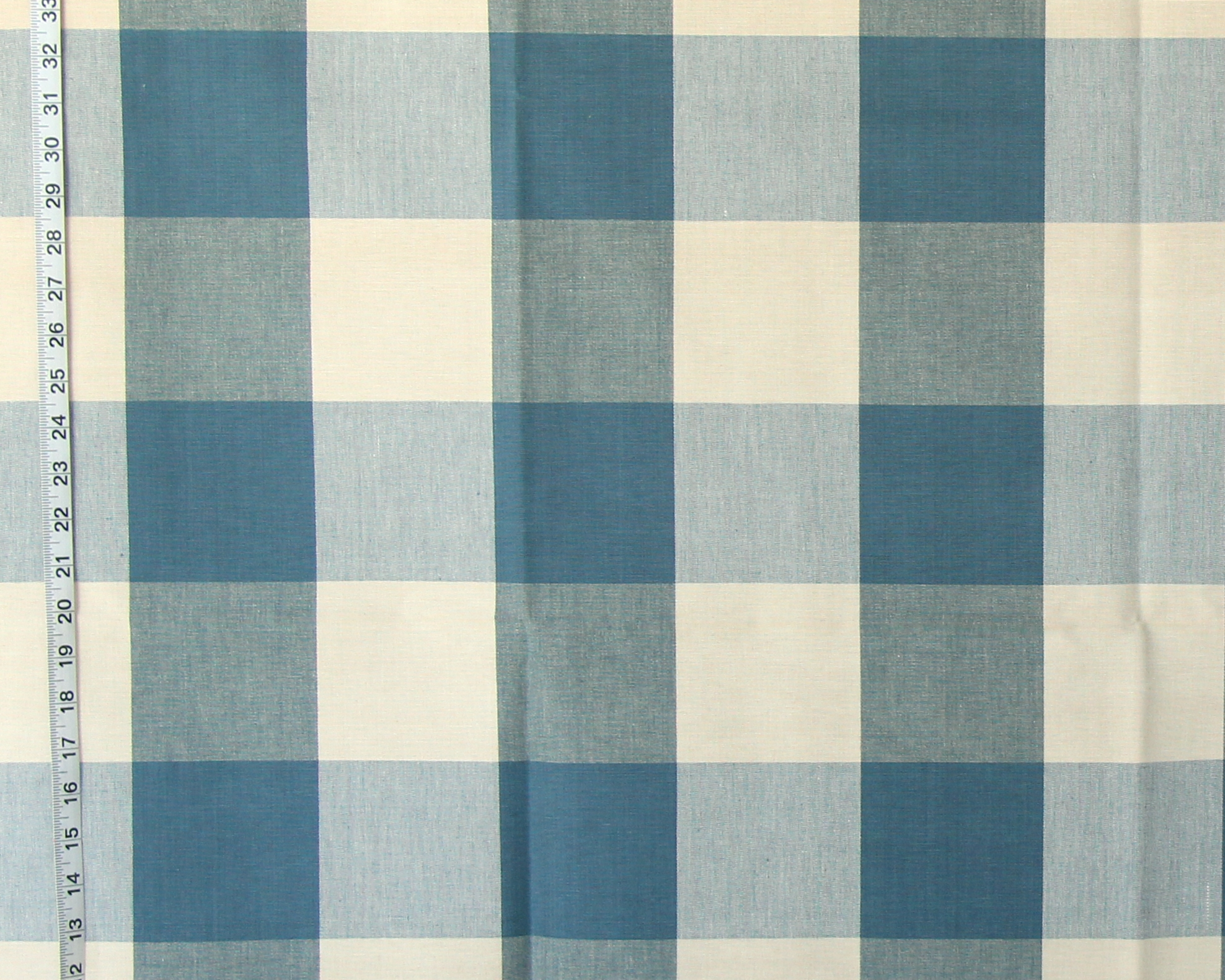"4"" BLUE BUFFALO CHECK FABRIC-OCEAN"
