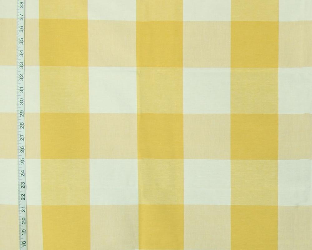 Yellow Buffalo Check Fabric