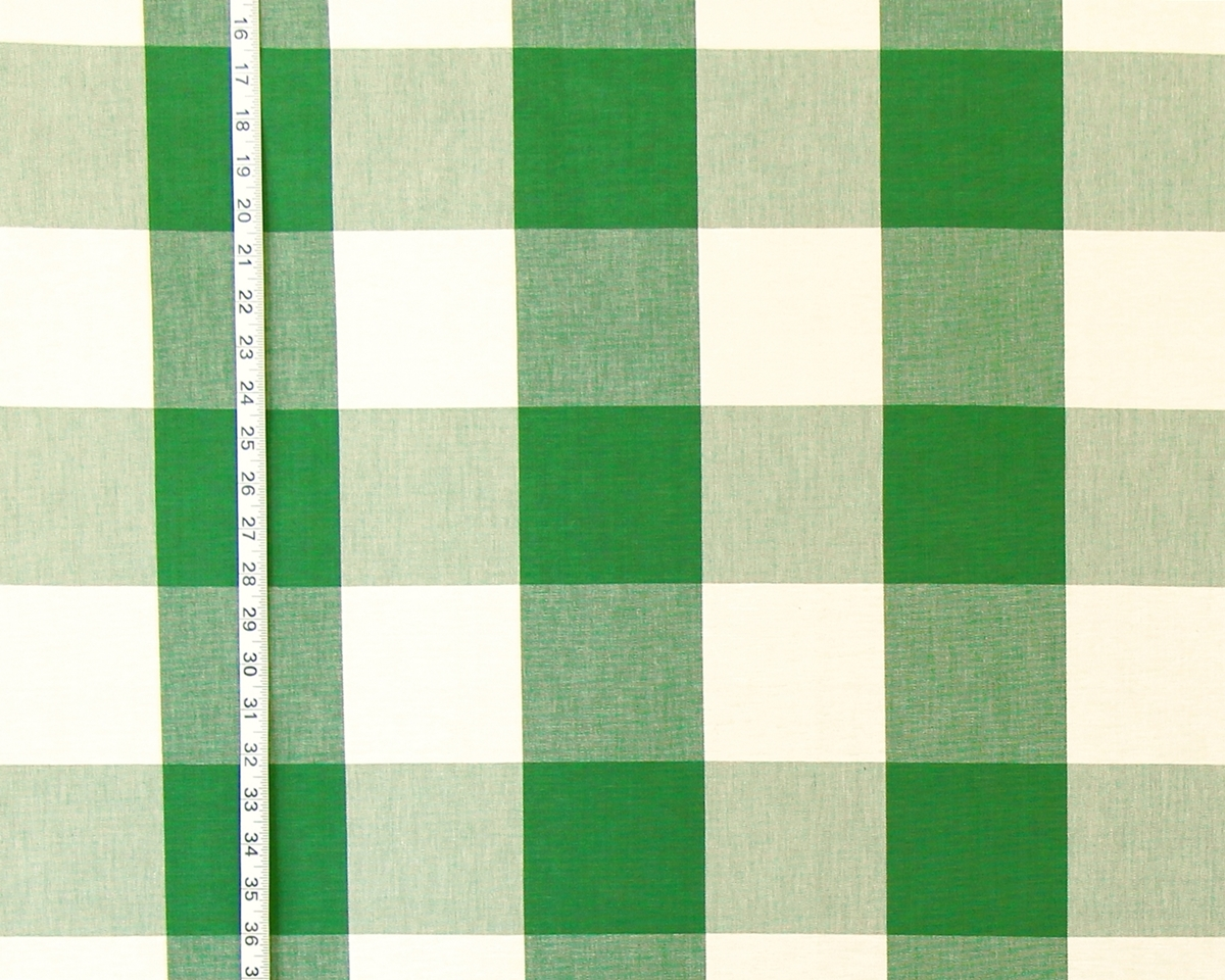 BRIGHT GREEN BUFFALO CHECK FABRIC