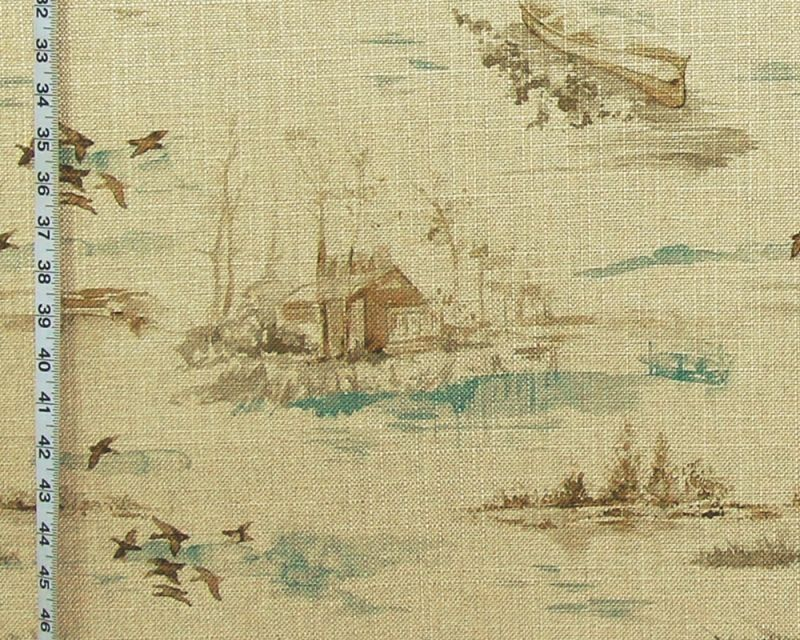 AQUA LAKE CABIN FABRIC