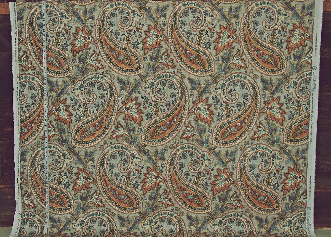 Orange Paisley Fabric