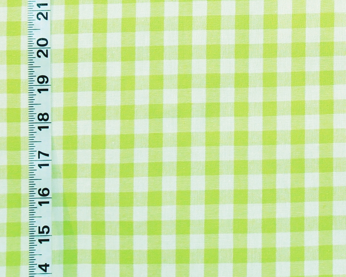 Yellow Green Lime Checked Gingham Fabric From Brick House Fabric Novelty Fabric