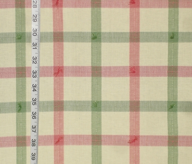 Madras plaid fabric green pink yellow from Brick House Fabric ...