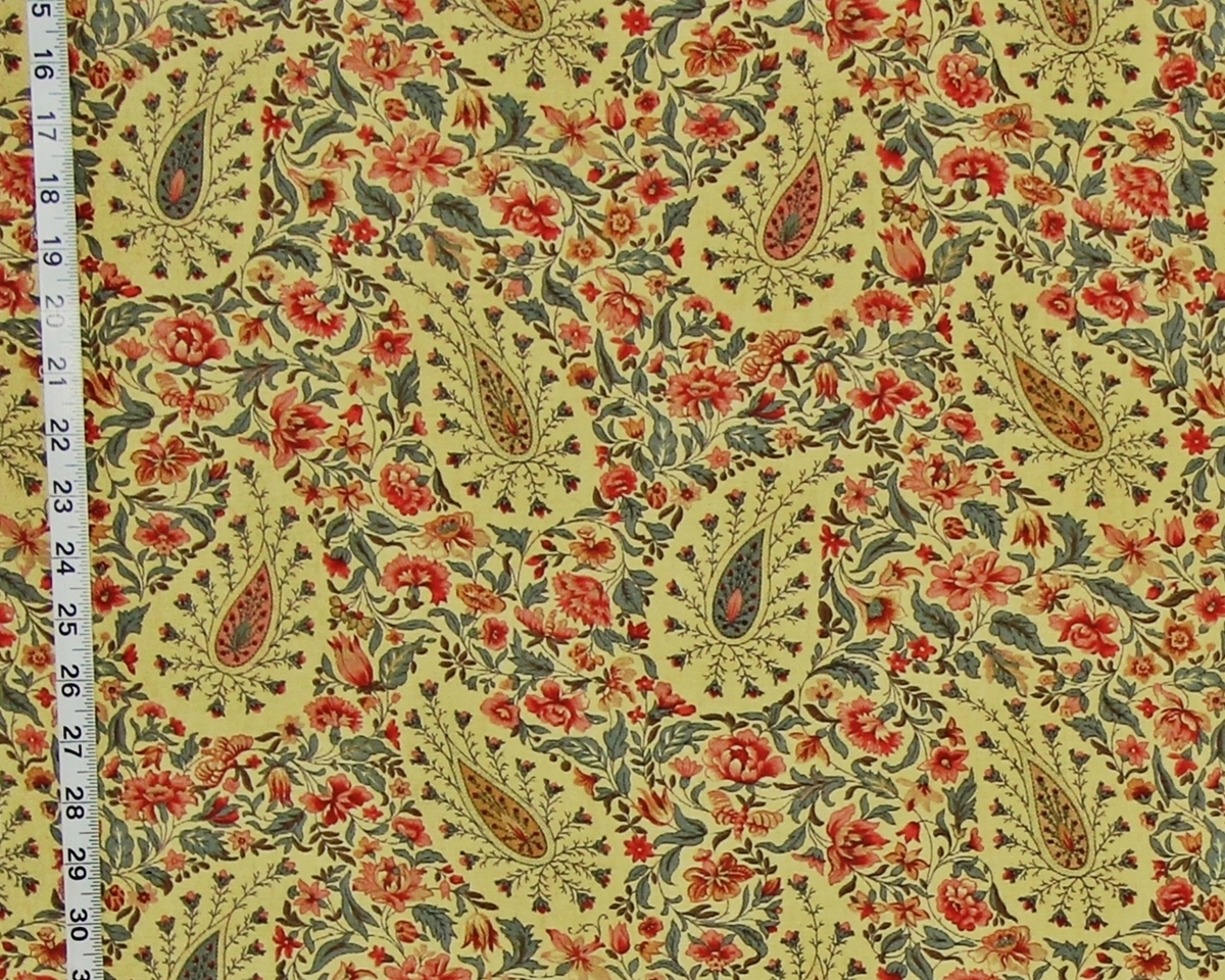 MEDIEVAL FLORAL PAISLEY FABRIC