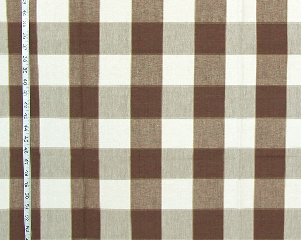 CHOCOLATE BROWN BUFFALO CHECK FABRIC