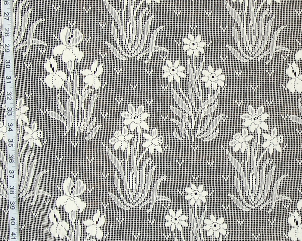 SPRING FLOWERS LACE CURTAIN FABRIC