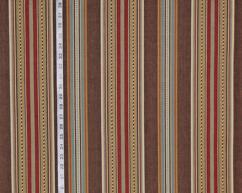Brown southwestern serape striped fabric red gold Chocolate from ...