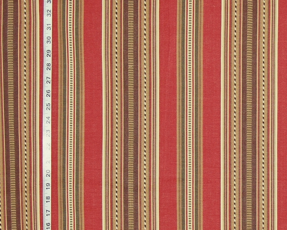 Southwestern serape striped fabric gold brown Barn Red from Brick ...