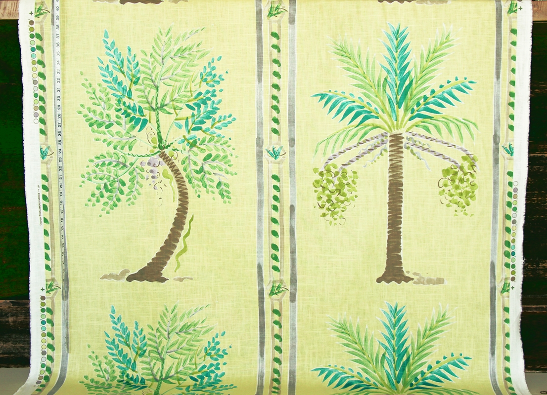 YELLOW PALM TREE FABRIC