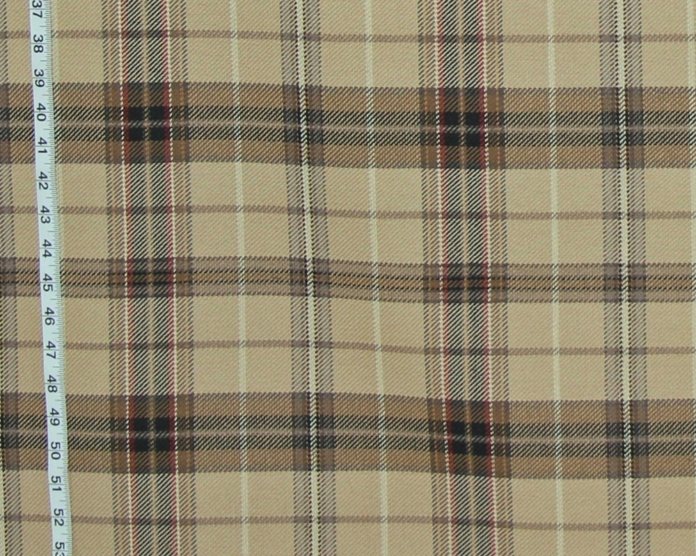 CAMEL PLAID FABRIC- D2896