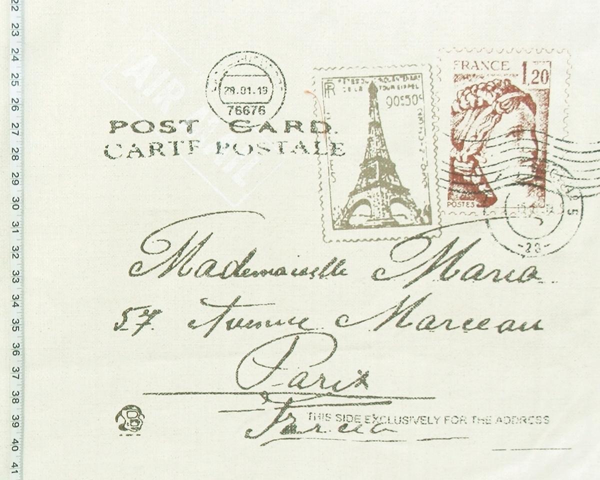 PARIS LETTER DOCUMENT FABRIC