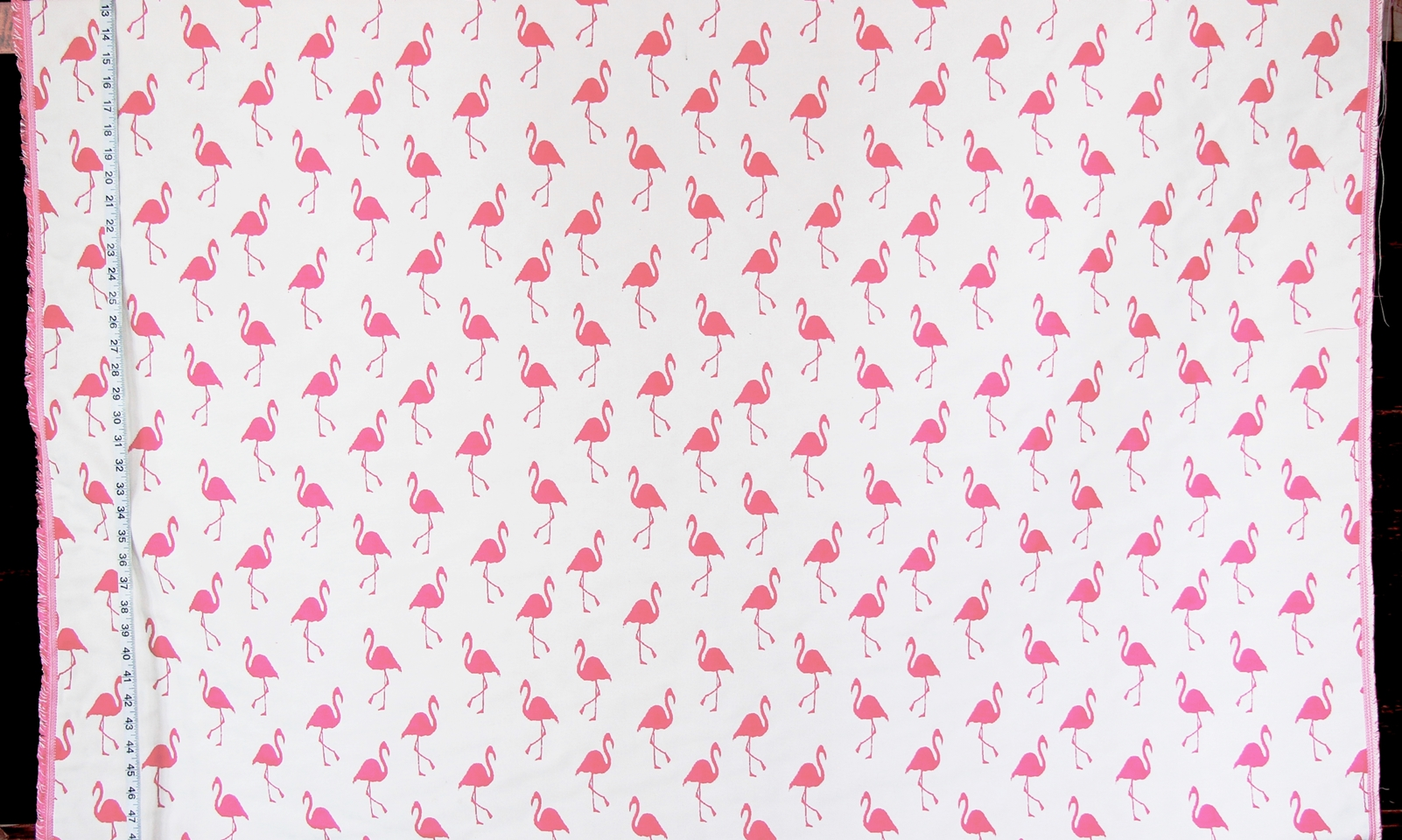 PINK AND WHITE REVERSIBLE FLAMINGO FABRIC