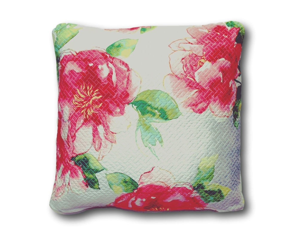 Pink Flower Watercolor Throw Pillow Satin Cushion Cover 20 From