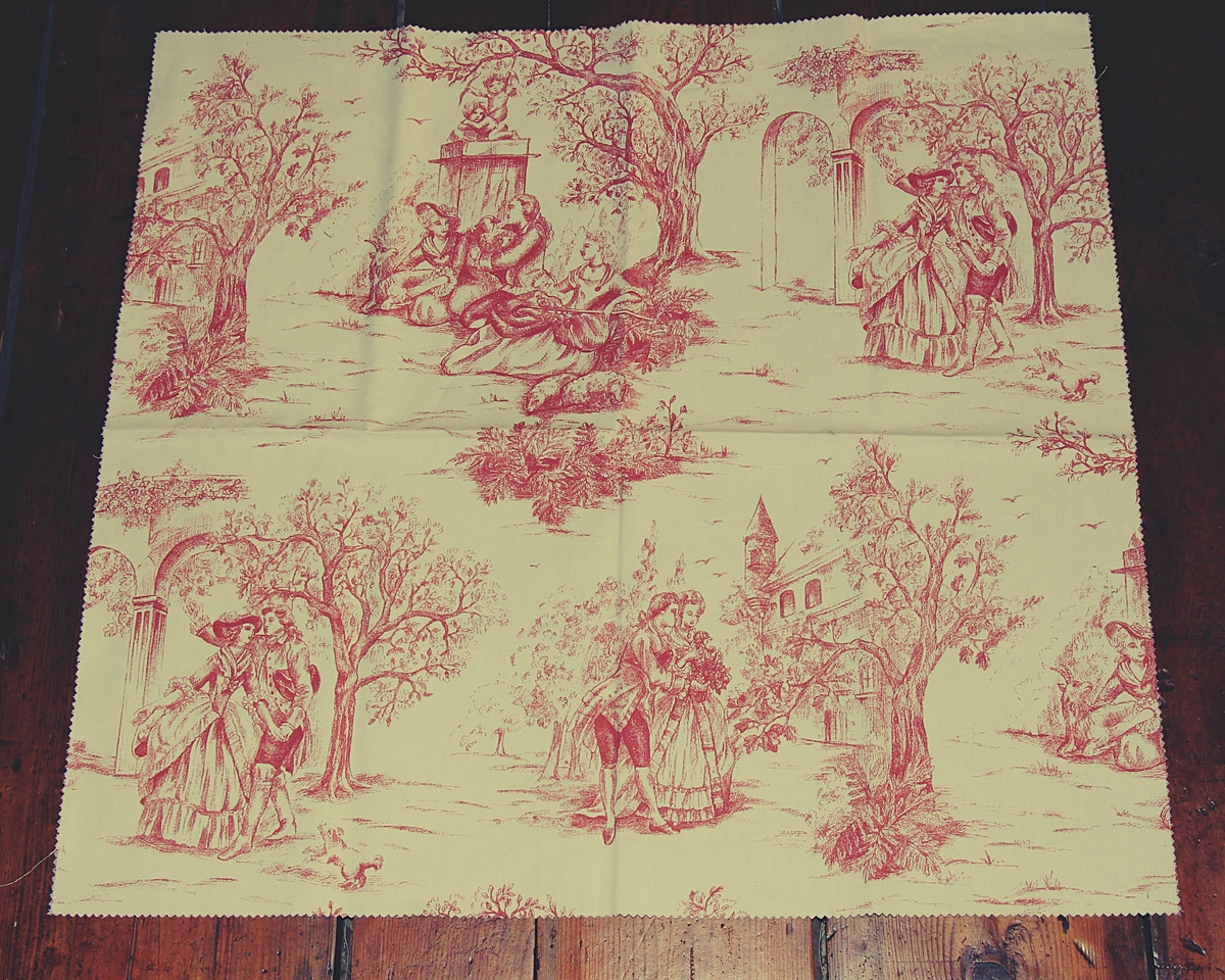 ROSE PINK TOILE DE JOUY FABRIC