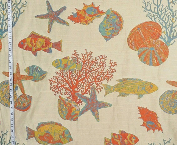 Coral Fish Reef Fabric